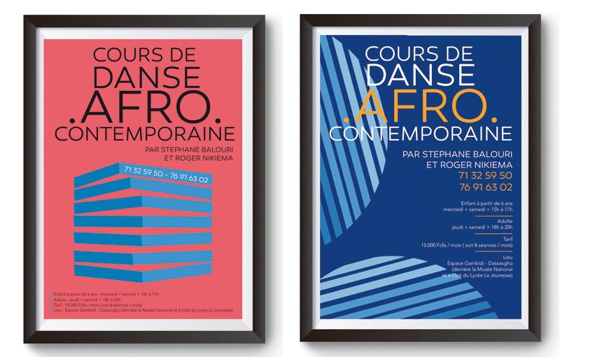 affiche danse afro-contemporaine - Espace Gambidi