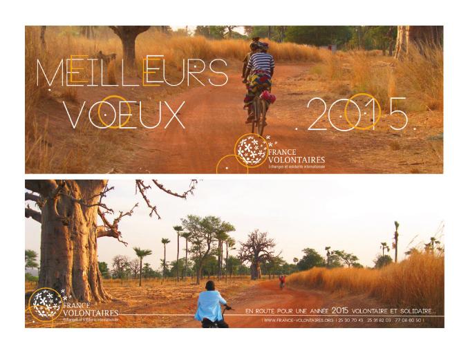 CARTE DE VOEUX 2015 FRANCE VOLONTAIRES